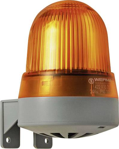 Bzučák s bleskem Werma 423.310.75, 24 V DC/AC, žlutá