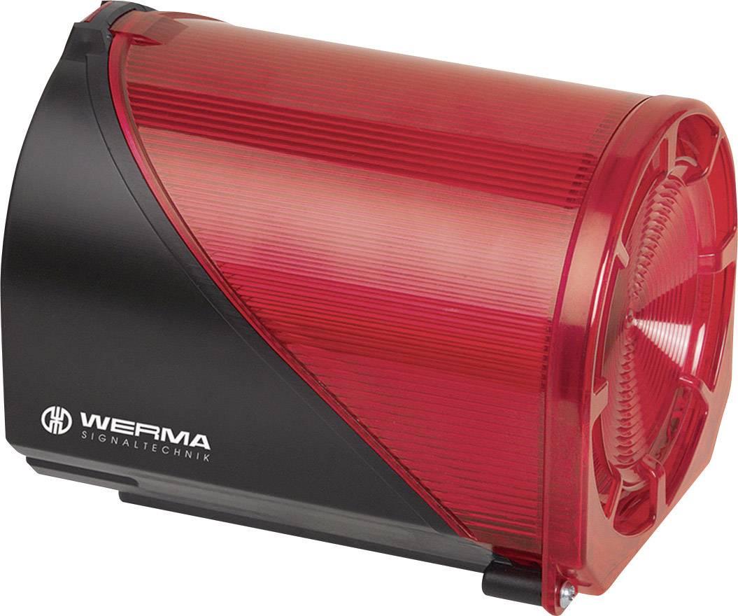 Siréna s blikajícím světlem Werma 444.100.75, IP65, červená