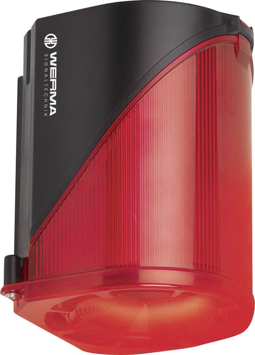 Siréna s blikajícím světlem Werma 444.100.68, IP65, červená