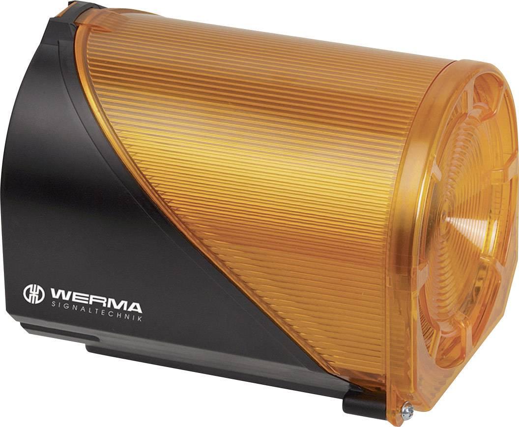 Siréna s blikajícím světlem Werma 444.300.75, IP65, žlutá