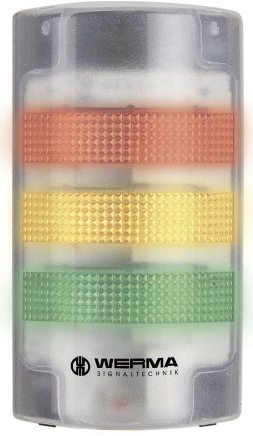 Signalizačný stĺpik LED Werma Signaltechnik 691.200.55, 85 dB, 24 V/DC, trvalé svetlo, blikajúce, biela