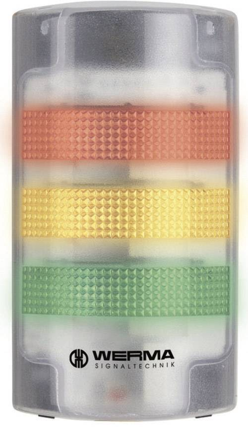 Signalizačný stĺpik LED Werma Signaltechnik WERMA KombiSign 71 691.100.68, 230 V/AC, trvalé svetlo, blikajúce, biela