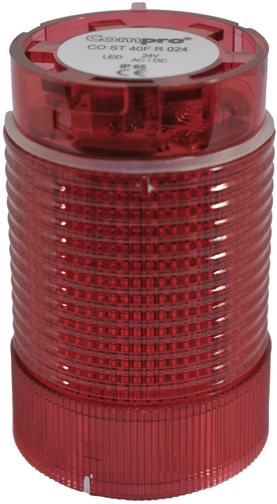 Modul signalizačního sloupku LED ComPro CO ST 40, červená, trvalé světlo, zábleskové světlo, výstražný maják, 24 V/DC, 24 V/AC, 75 dB