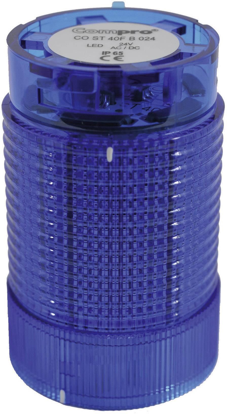 Součást signalizačního sloupku LED ComPro CO ST 40, modrá, trvalé světlo, zábleskové světlo, výstražný maják, 24 V/DC, 24 V/AC, 75 dB