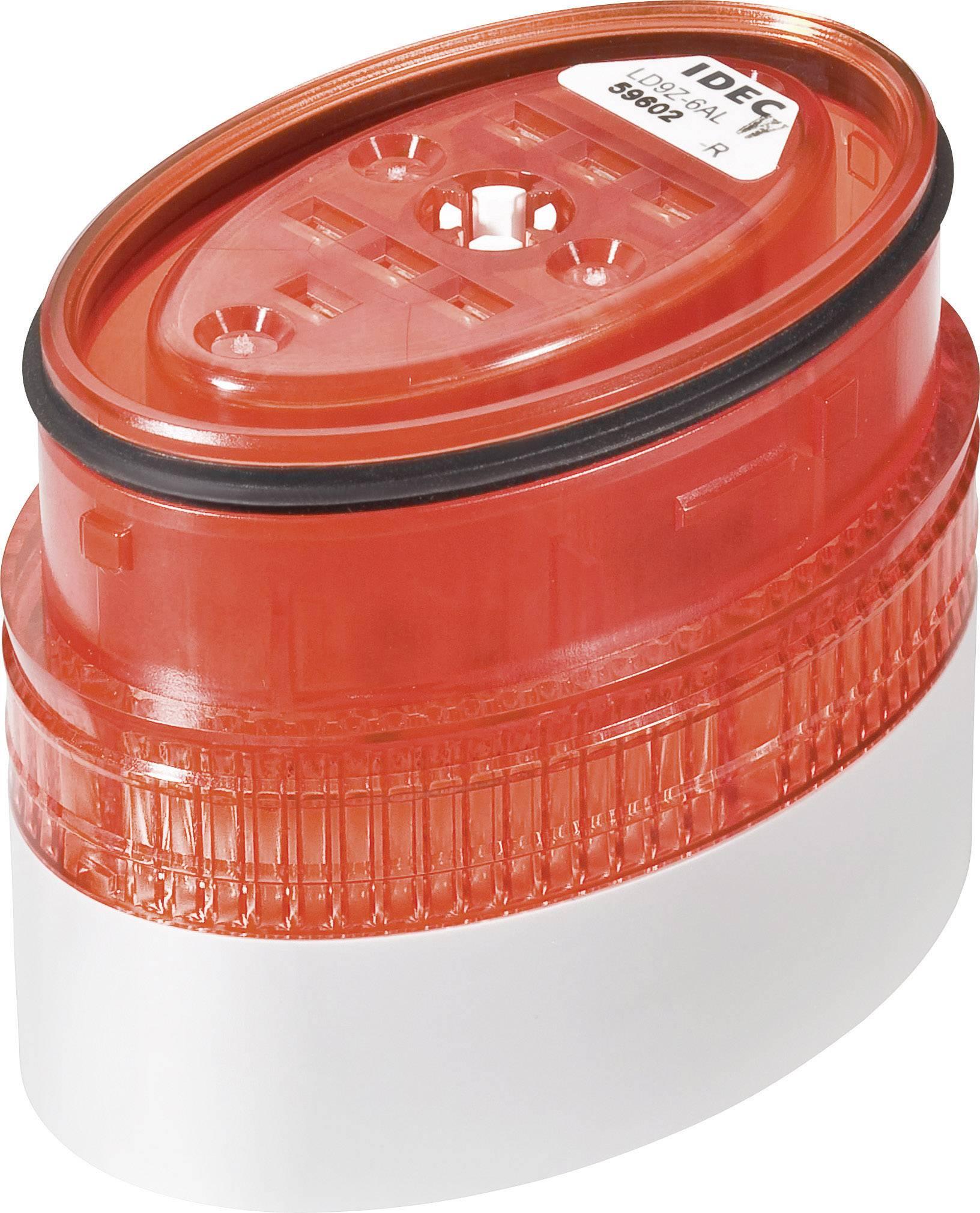 LED signalizační sloupec Idec LD6A (LD9Z-6ALW-R), IP65, Ø 40 x 60 mm, červená