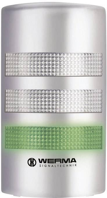 LED signalizační sloupek akustický Werma 691.400.55, 24 V/DC, IP65, stříbrná