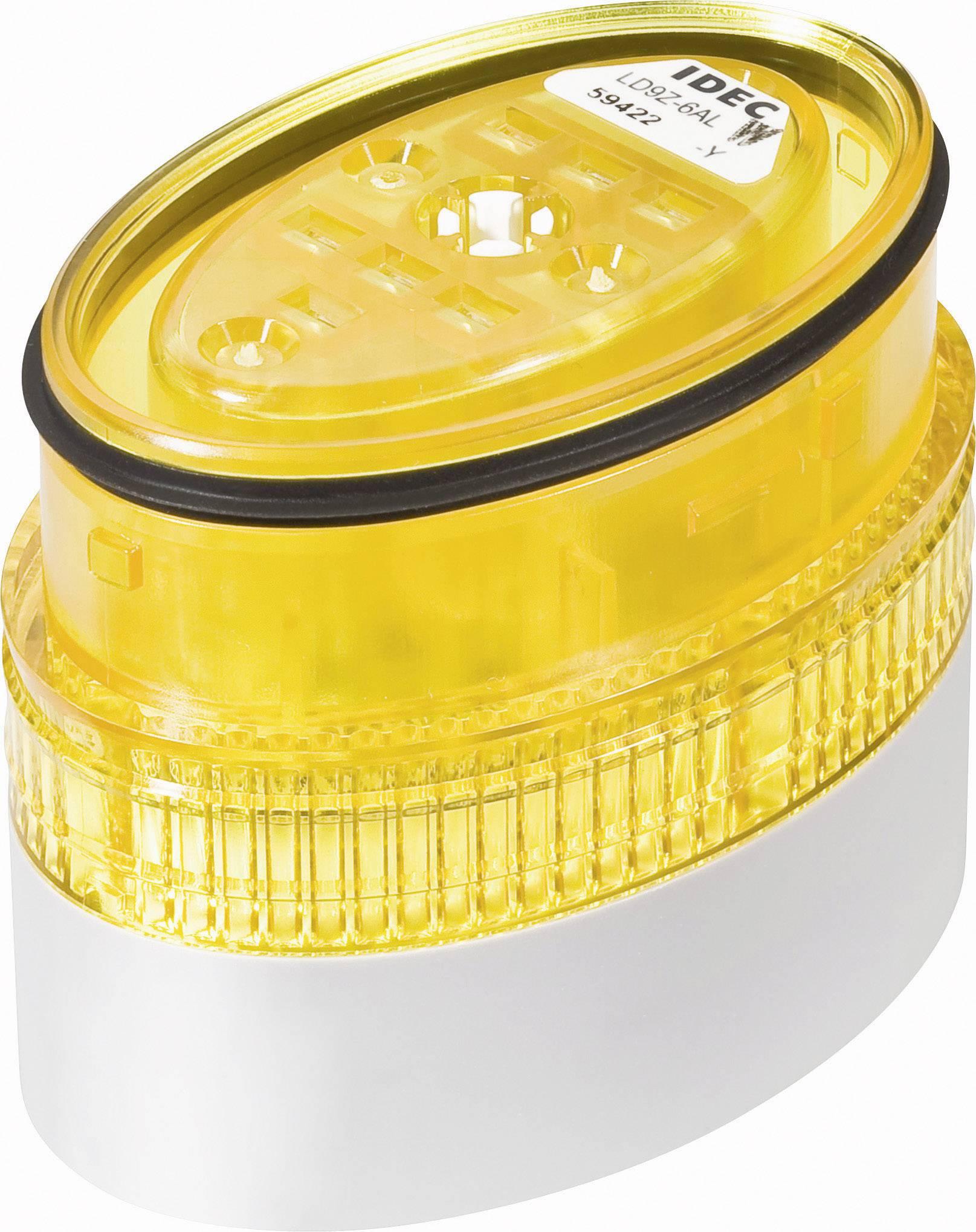 LED signalizační sloupec Idec LD6A (LD9Z-6ALW-Y), IP65, Ø 40 x 60 mm, žlutá