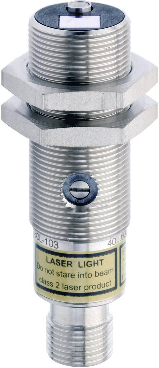 Reflexný laserový snímač CONTRINEX LTS-1180L-103, dosah 40 - 600 mm, konektor M12, 4pol.