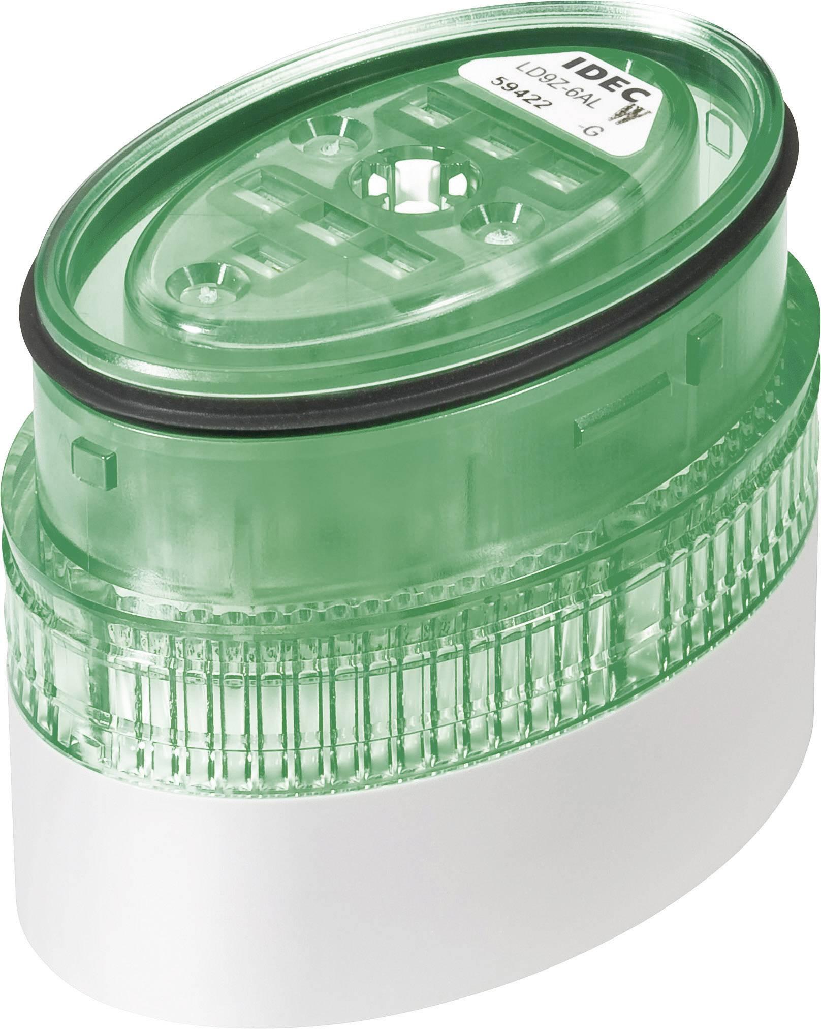 LED signalizace Idec LD6A (LD9Z-6ALW-G), IP65, Ø 40 x 60 mm, zelená
