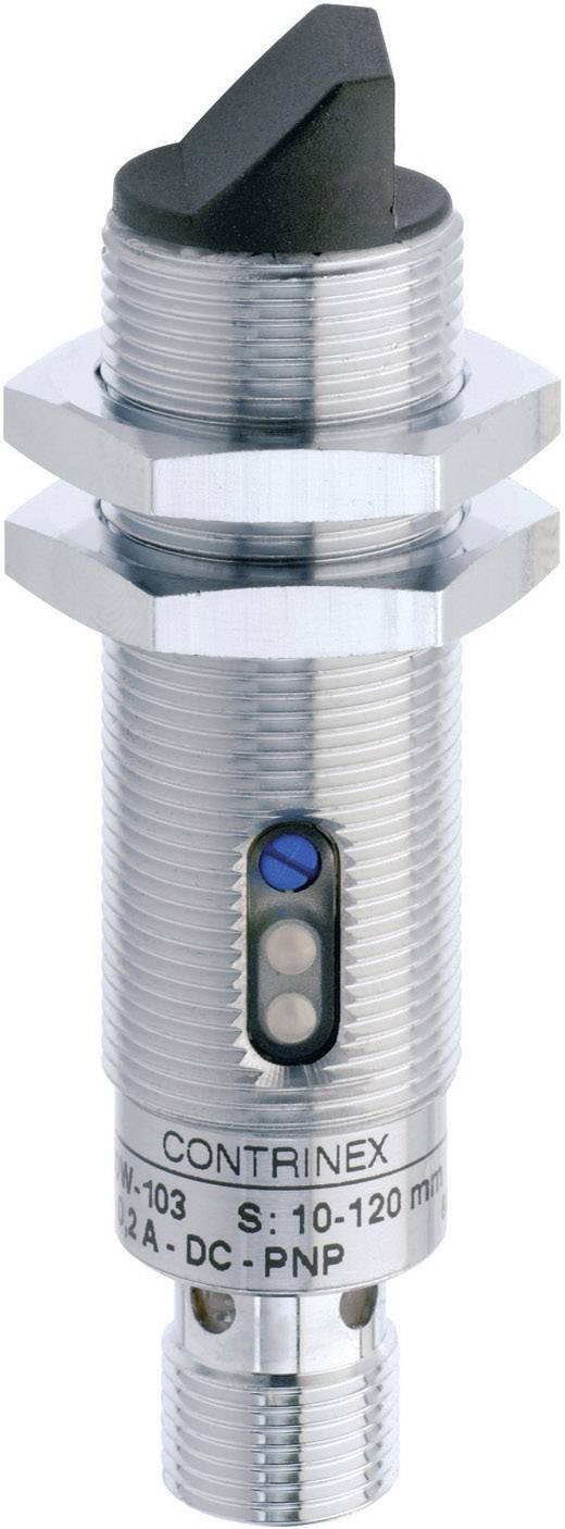Reflexní optická závora série M18 Contrinex LTS-1180W-103, konektor M12, dosah 40 - 600 mm