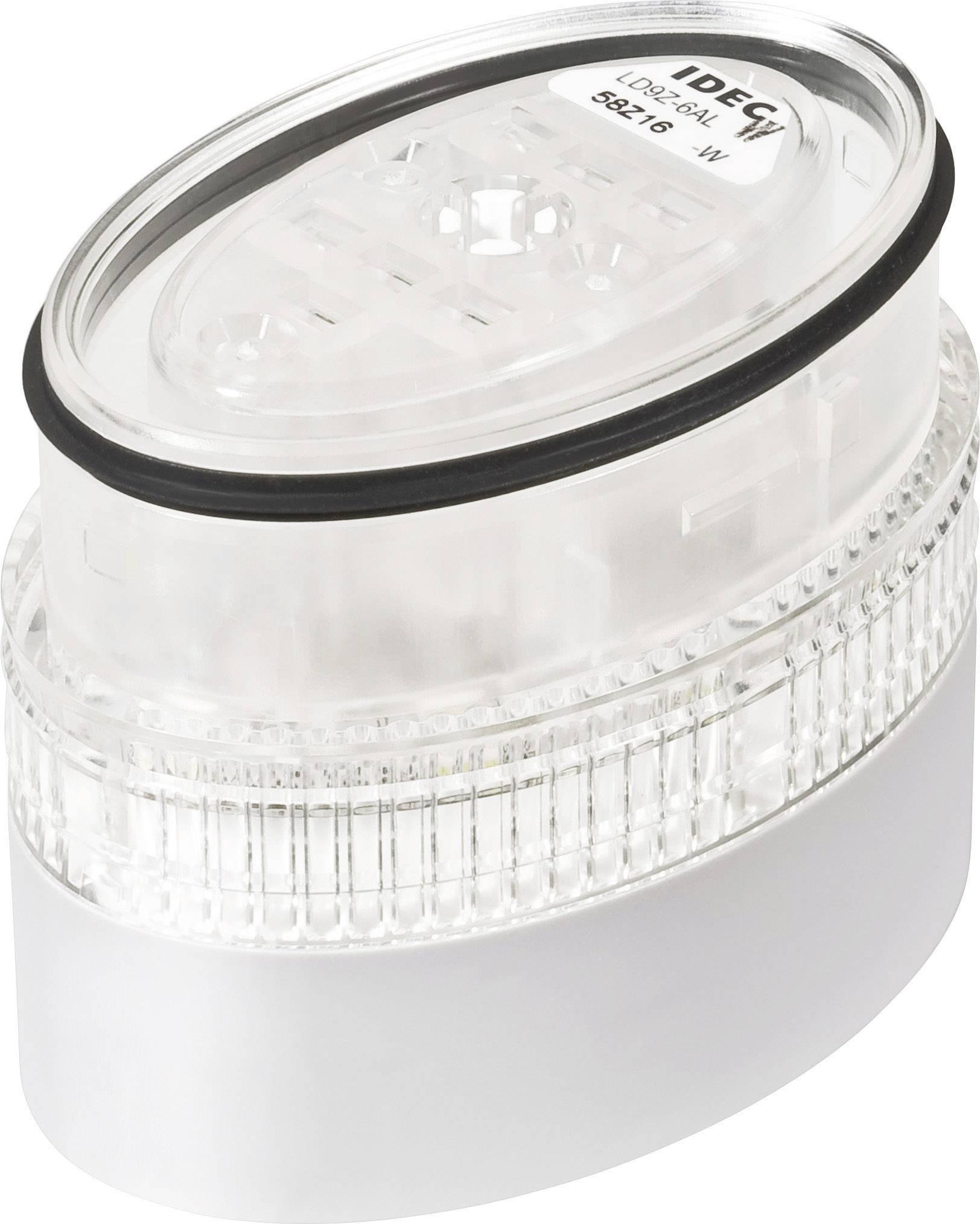 LED signalizační sloupec Idec LD6A (LD9Z-6ALW-W), IP65, Ø 40 x 60 mm, bílá