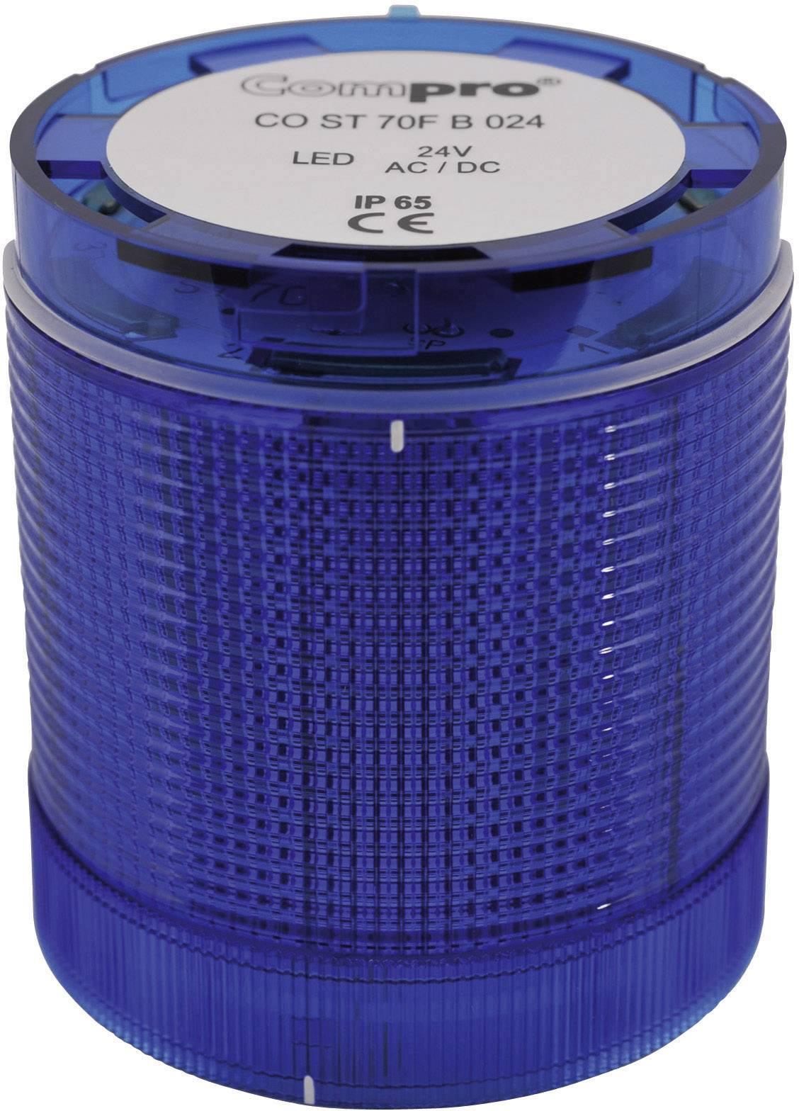 Súčasť signalizačného stĺpika LED ComPro CO ST 70 CO ST 70 BL 024 6F, 75 dB, 24 V/DC, 24 V/AC, trvalé svetlo, blikanie, výstražný maják, modrá