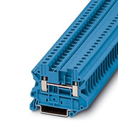 Řadová svorka průchodky Phoenix Contact UT 4-MTD BU 3046197, 50 ks, modrá