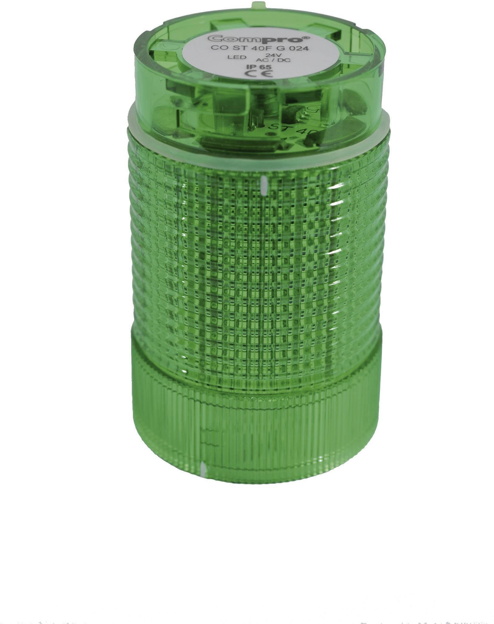 Súčasť signalizačného stĺpika LED ComPro CO ST 40 CO ST 40 GL 024, 75 dB, 24 V/DC, 24 V/AC, trvalé svetlo, blikajúce, zelená