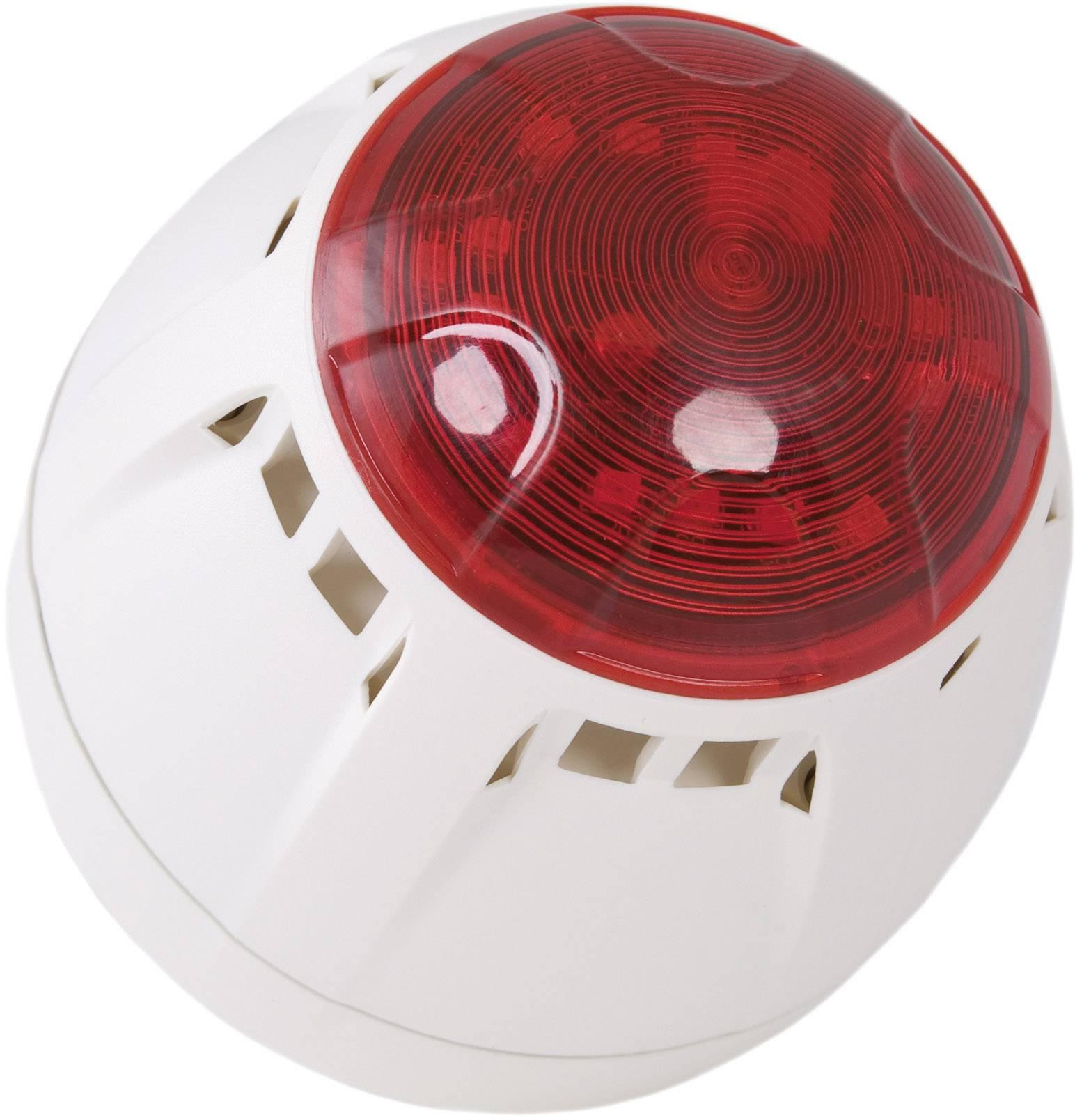 Siréna s blikajícím světlem ComPro Chiasso Razor (CH/100/AV/DW), IP65, bílá