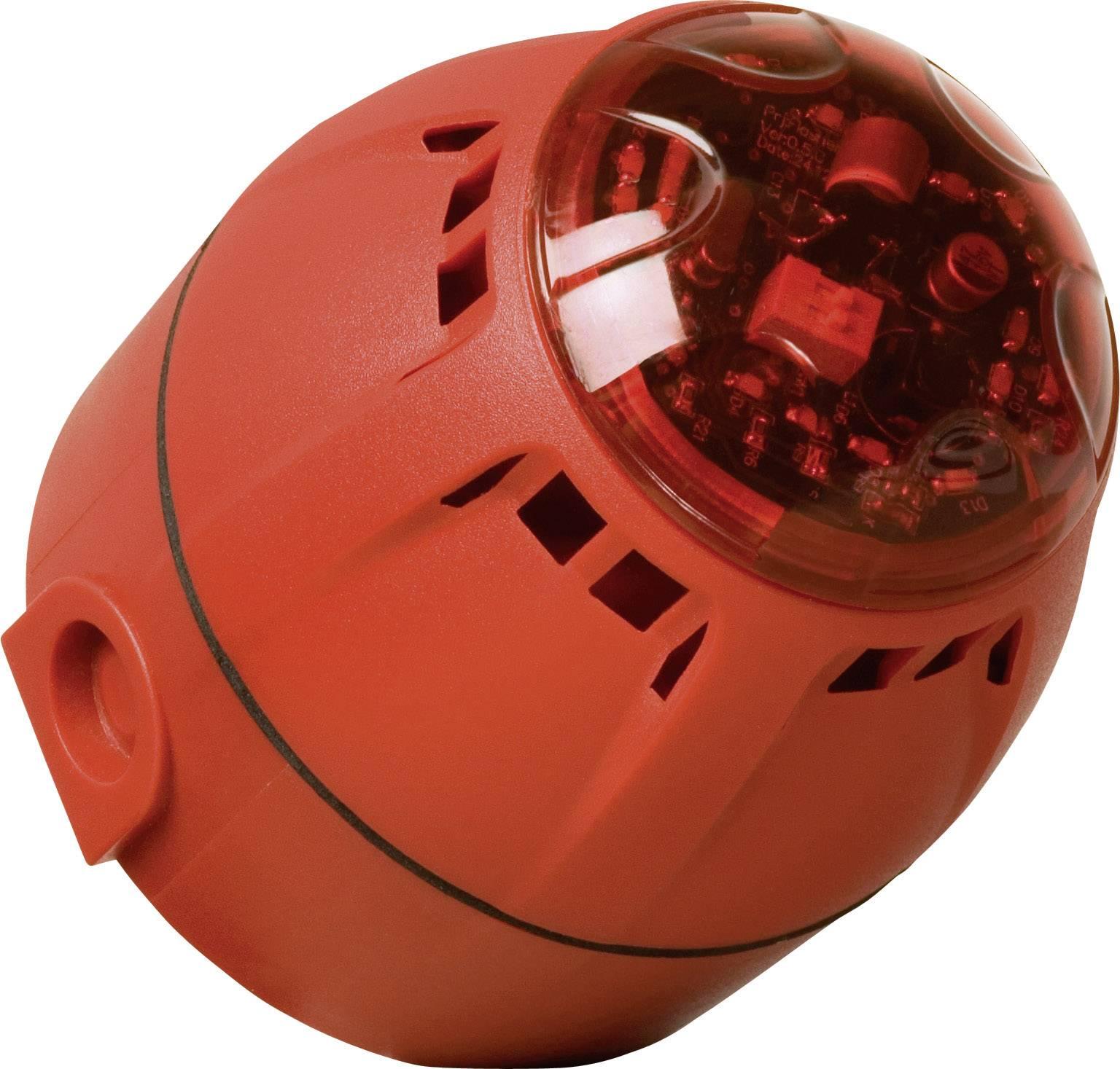 Siréna s blikajícím světlem ComPro Chiasso Razor (CH/100/AV/DR), IP65, červená