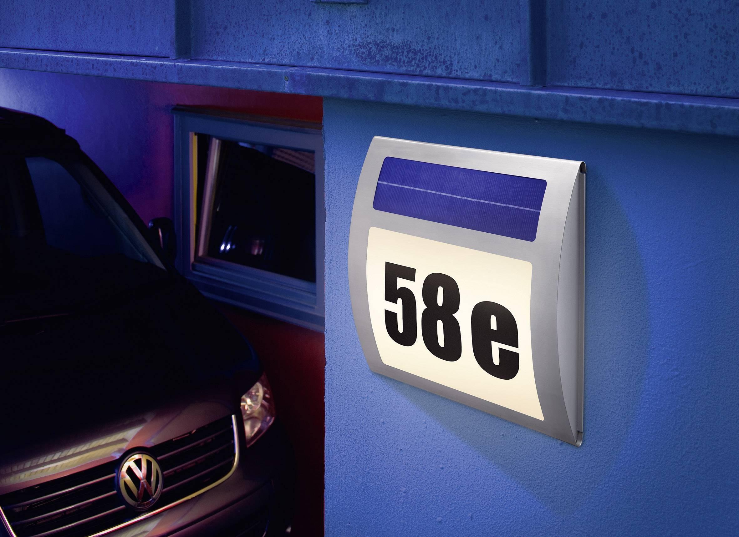 Solární osvětlení domovního čísla Wave
