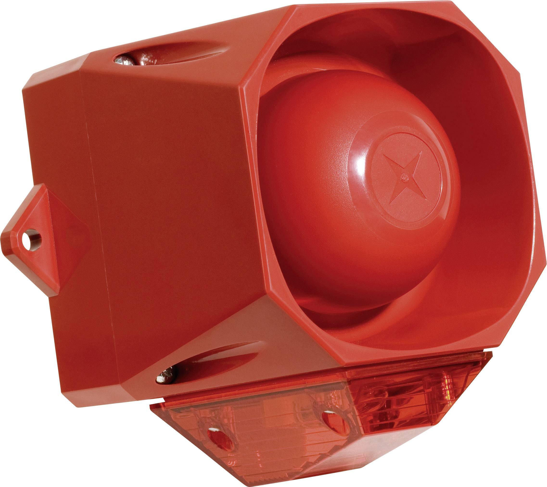 Siréna s blikajícím světlem ComPro Asserta Midi AV (AS/M/R/9-60), IP66, červená