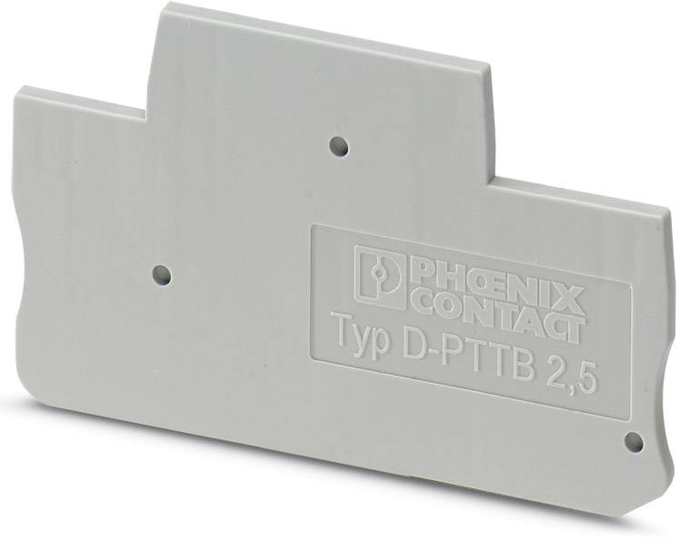 End cover D-PTTB 1,5/S/2P Phoenix Contact D-PTTB 1,5/S/2P 3212471, 50 ks
