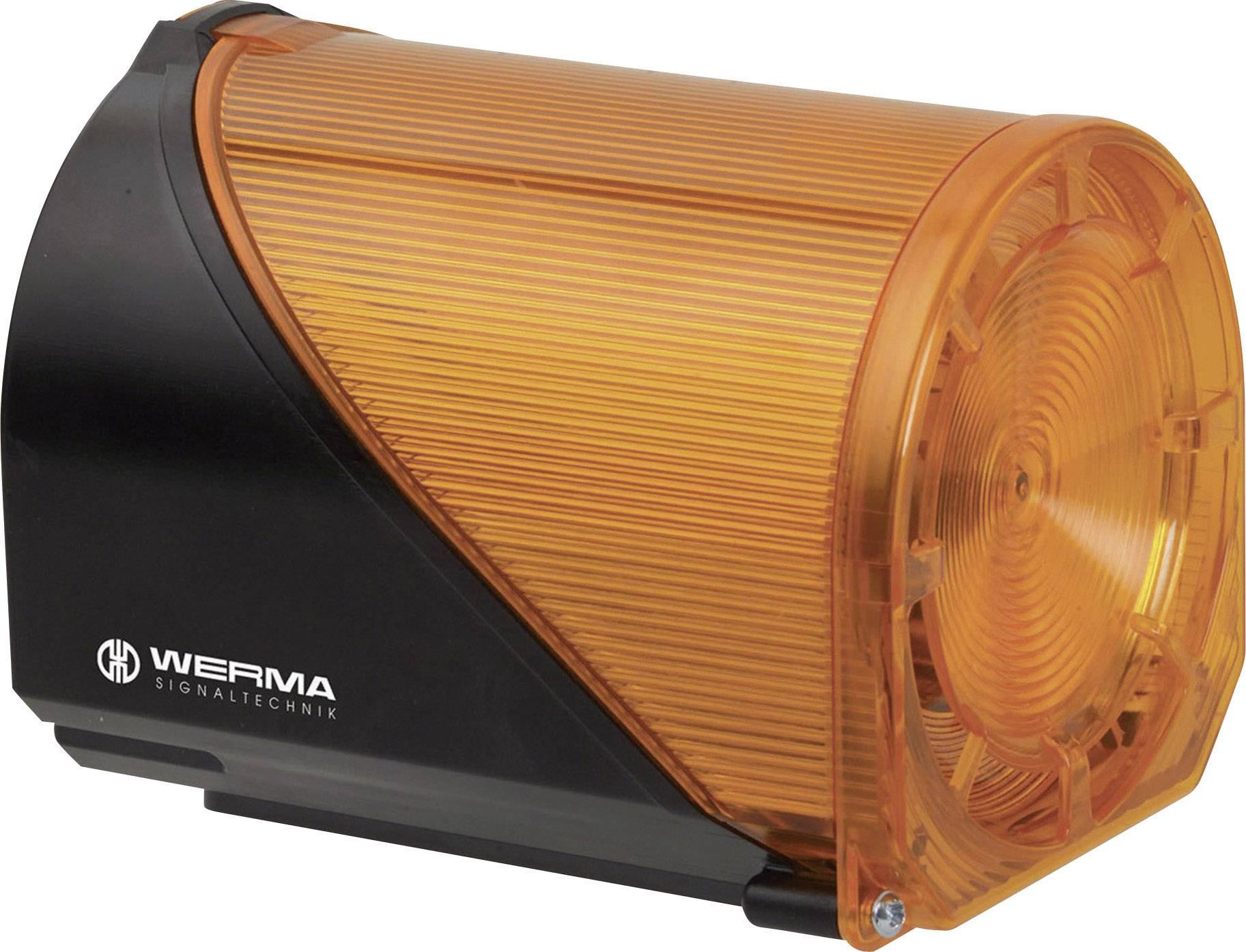 LED EVS světlo se sirénou Werma 444.310.68, IP65, žlutá