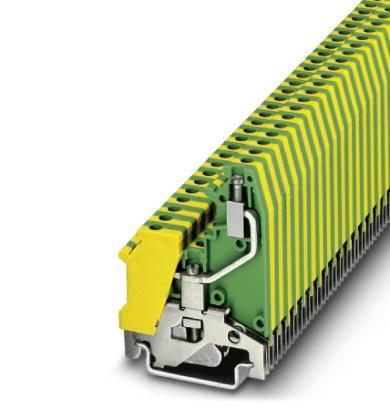 Trojitá svorka ochranného vodiče Phoenix Contact UK 5-RETURN-PE 3002584, 50 ks, zelenožlutá