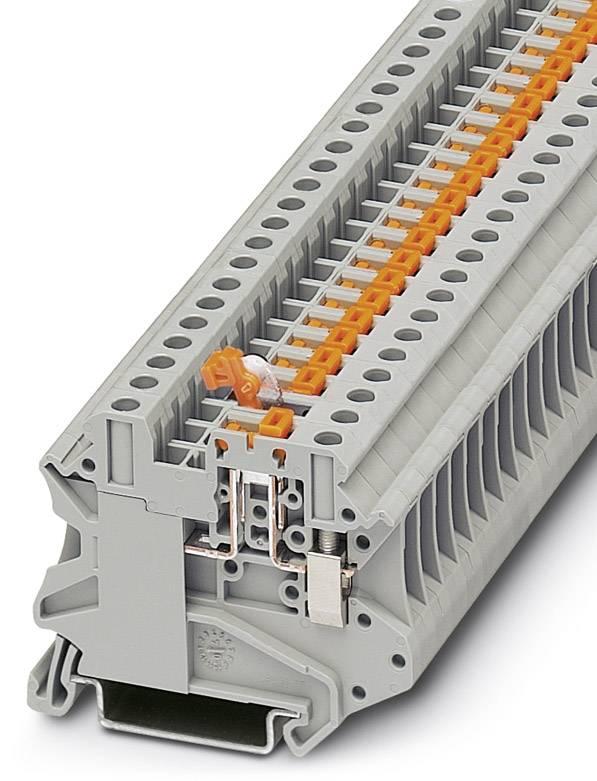 Oddělovací svorka Phoenix Contact UT 4-MT-P/P OG 3046443, 50 ks, oranžová