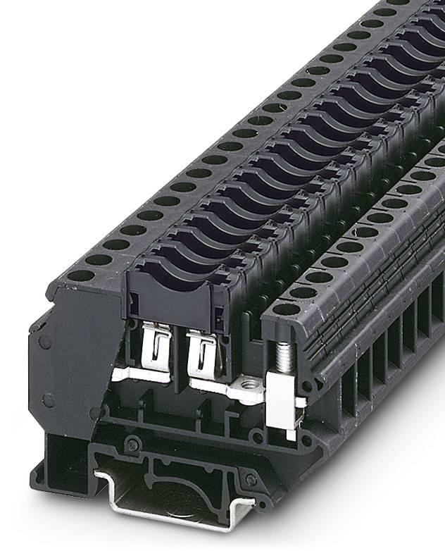 Jisticí řadová svorka Phoenix Contact UK 6-FSI/C-LED12 3001925, 50 ks, černá