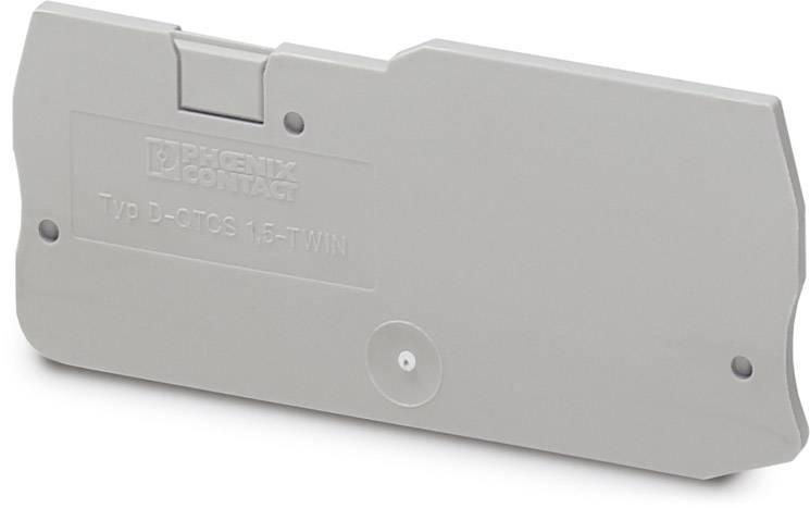 End cover D-QTCS 1,5-TWIN Phoenix Contact 50 ks