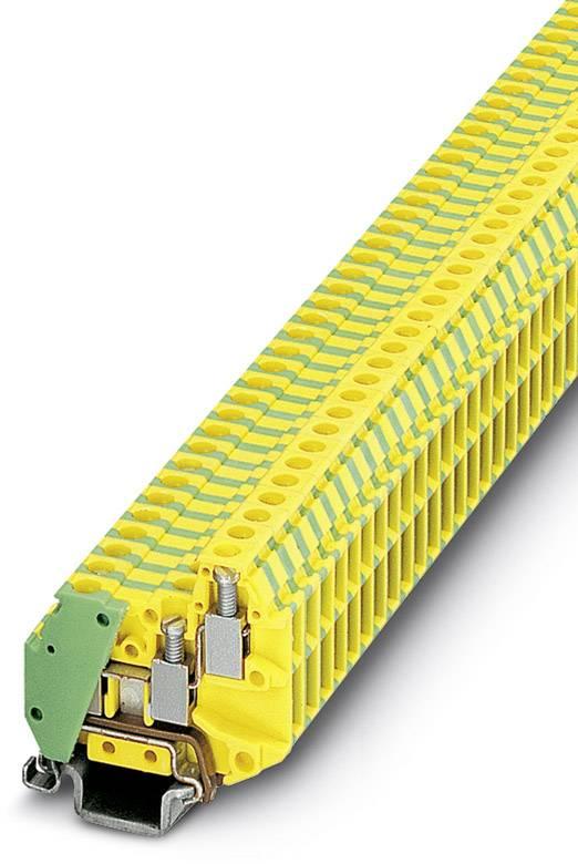 Trojitá svorka ochranného vodiče Phoenix Contact MT 1,5-TWIN-PE 3001705, 50 ks, zelenožlutá