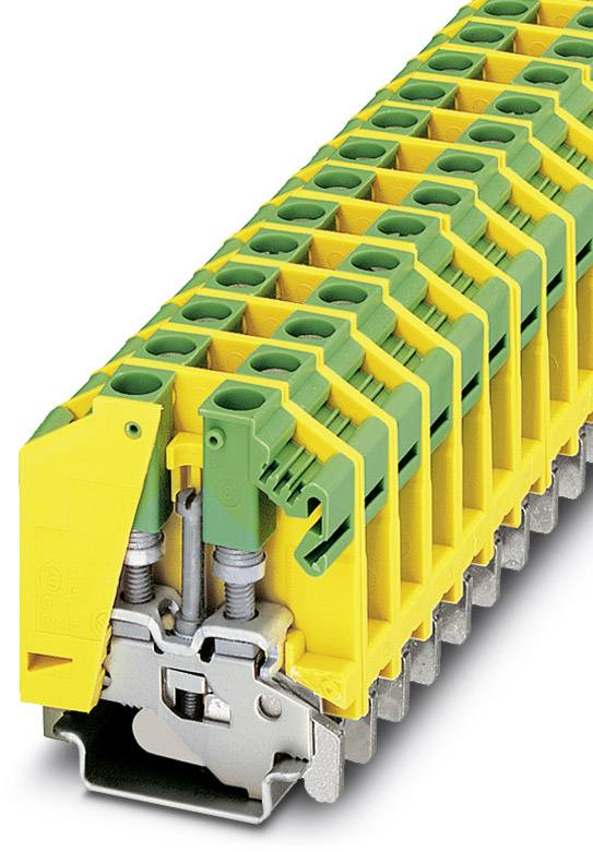 Trojitá svorka ochranného vodiče Phoenix Contact OTTA 6-PE 0790527, 50 ks, zelenožlutá