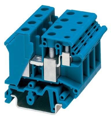 Řadová svorka průchodky Phoenix Contact UK 10-PLUS BU 3001475, 50 ks, modrá