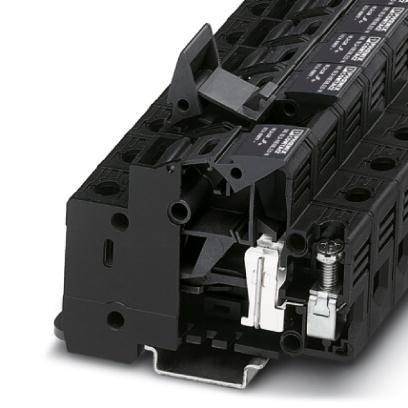 Jisticí řadová svorka Phoenix Contact UK 10,3-HESI N 3048386, 10 ks, černá