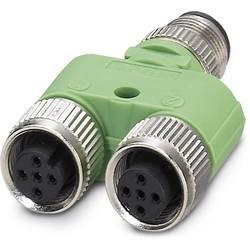 Rozdeľovač a adaptér pre senzory - aktory Phoenix Contact SAC-3P-M12Y/2XM12FS PE S21 1511789, 5 ks