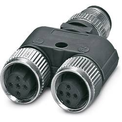 Rozdeľovač a adaptér pre senzory - aktory Phoenix Contact SAC-3P-M12Y/2XM12FS B PE S21BK 1527618, 5 ks