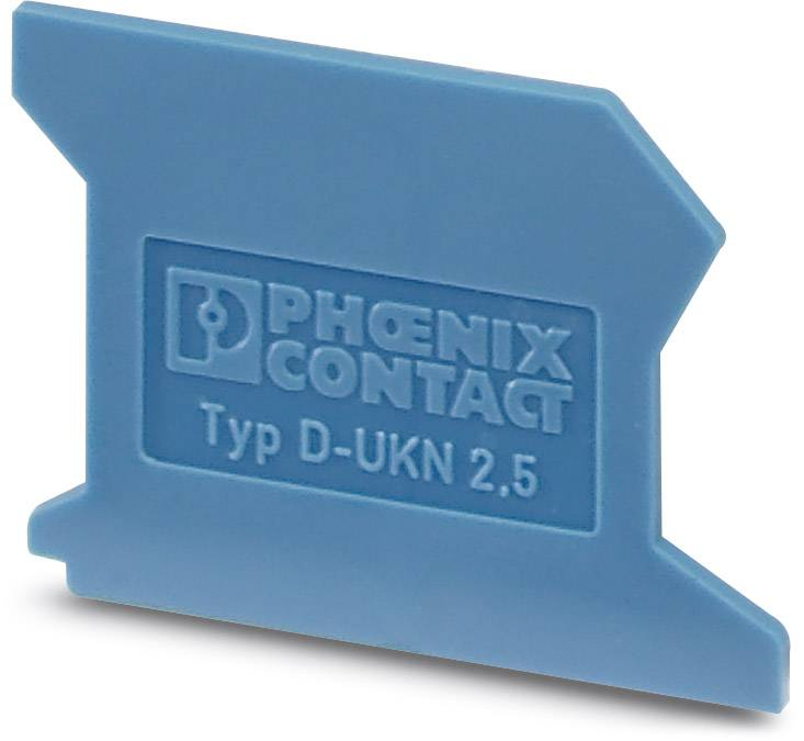 End cover D-UKN 2,5 Phoenix Contact D-UKN 2,5 3032017, 50 ks