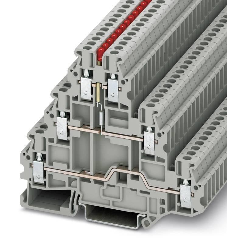 Řadová svorka pro konstrukční prvky Phoenix Contact UT 2,5-3L-LA24RD/O-M 3214288, 50 ks, šedá