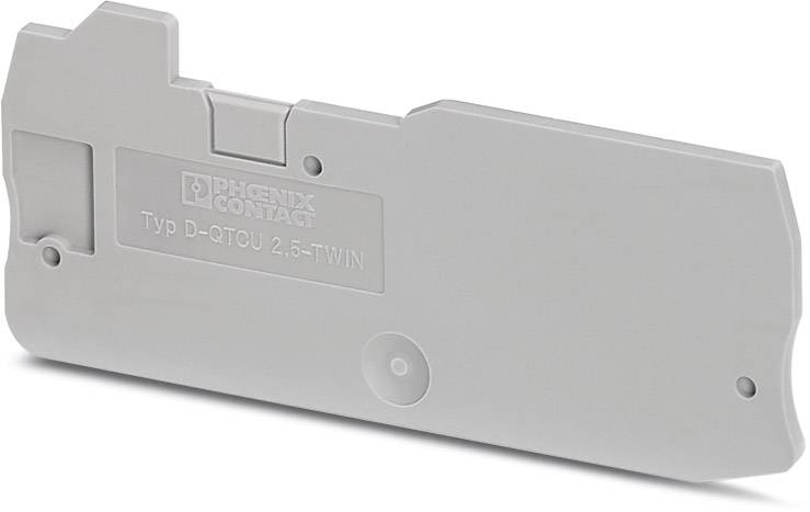 End cover D-QTCU 2,5 TWIN Phoenix Contact 50 ks