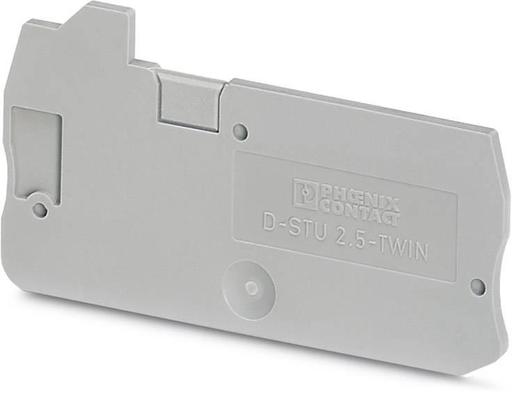 End cover D-STU 2,5-TWIN Phoenix Contact 50 ks