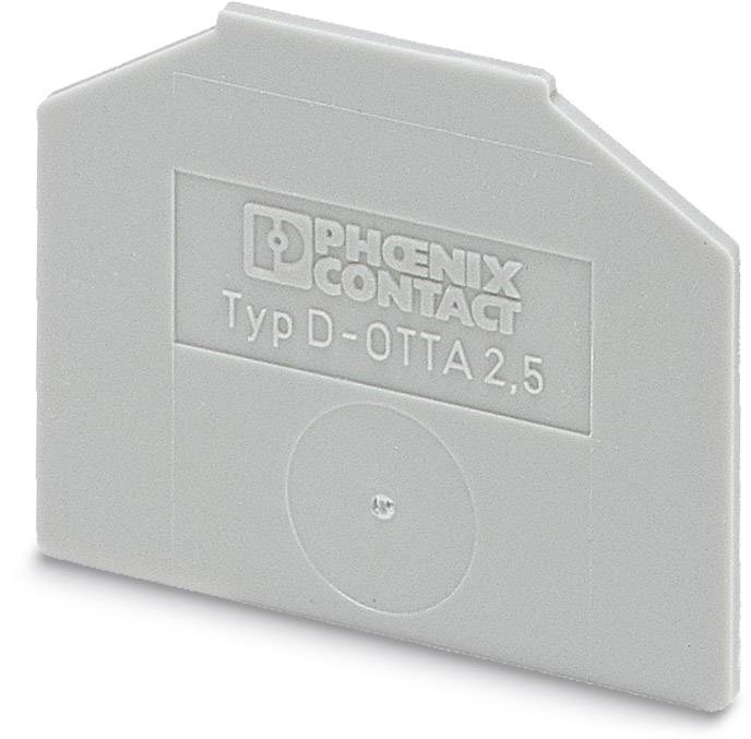 End cover D-OTTA 25 Phoenix Contact D-OTTA 25 0790514, 50 ks