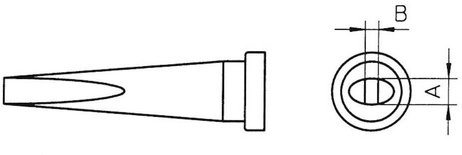 Spájkovací hrot dlátová forma, dlhá Weller Professional LT-M, velikost hrotu 3.2 mm, 1 ks