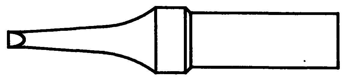Pájecí hrot Weller 4ETR-1, plochý, 1,6 mm
