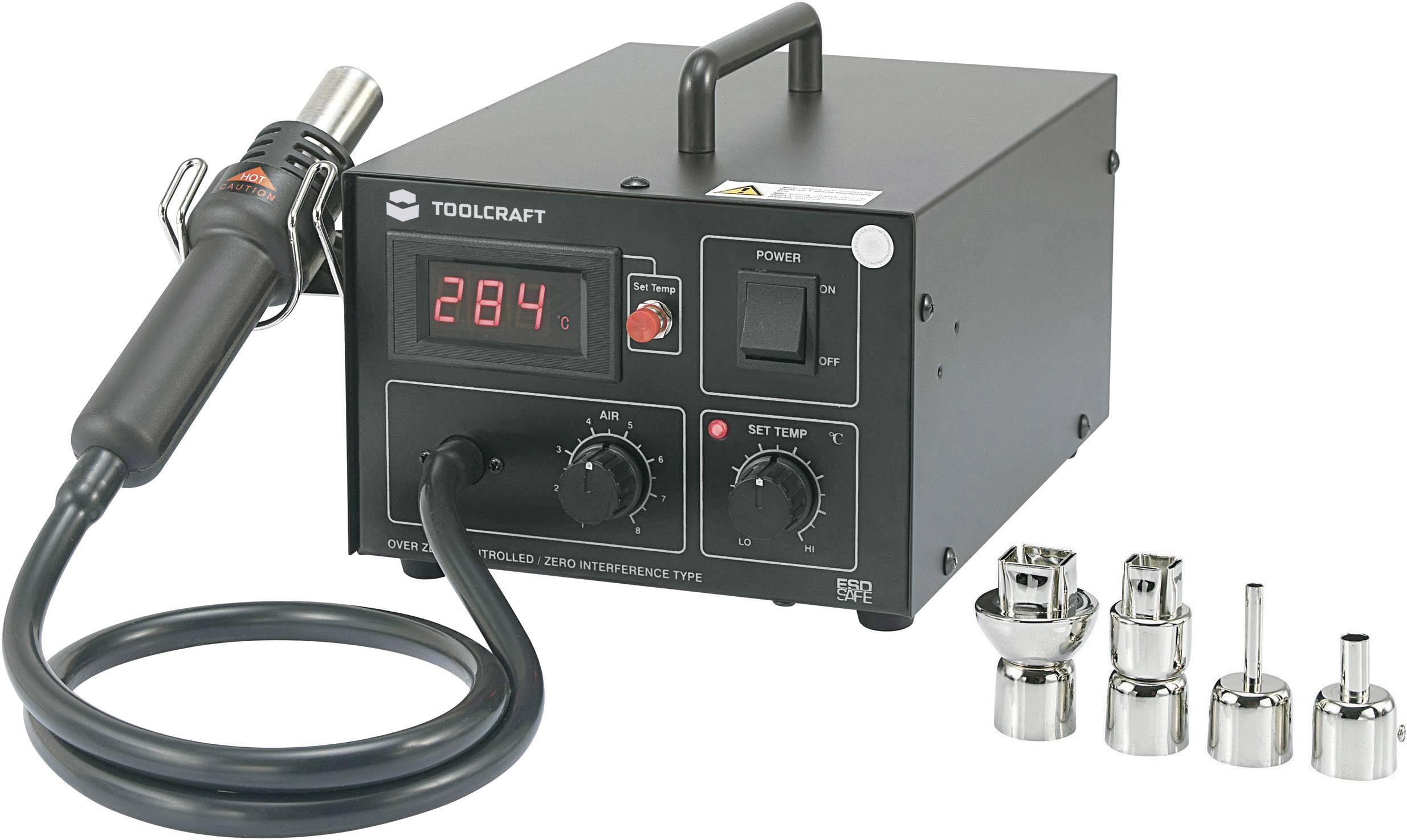 Horkovzdušná pájecí stanice TOOLCRAFT AT850D 588074, digitální, 550 W, +100 až +480 °C