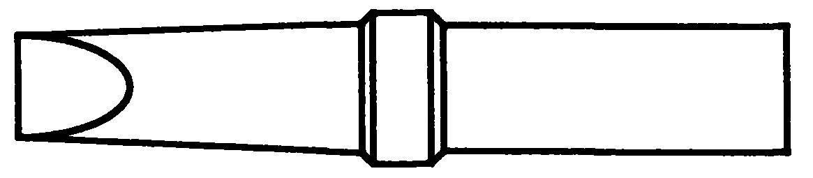 Spájkovací hrot plochá forma Weller Professional 4ETB-1, velikost hrotu 2.4 mm, 1 ks