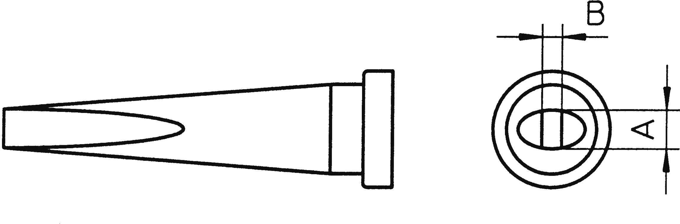 Spájkovací hrot dlátová forma, dlhá Weller Professional LT-L, velikost hrotu 2 mm, 1 ks