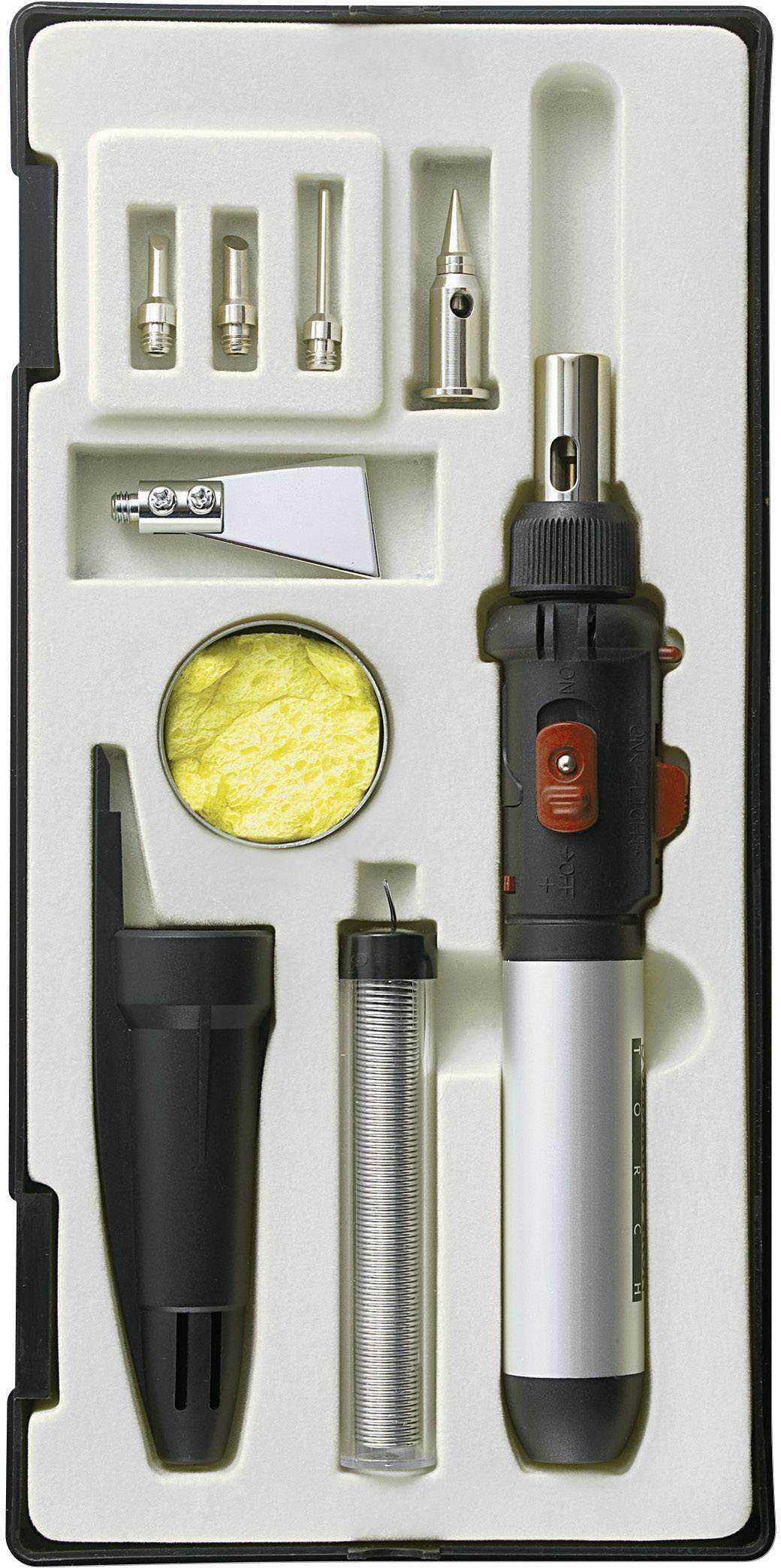 Sada plynovej spájkovačky TOOLCRAFT PT-509, 1300 °C, 50 min