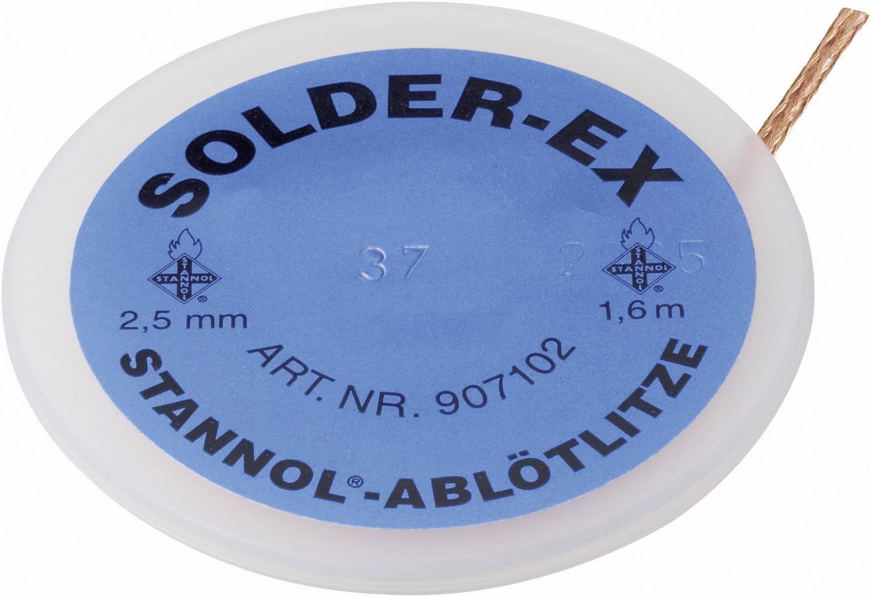 Odspájkovacie lanko Stannol Solder, dĺžka 1.6 m, šírka 2.5 mm