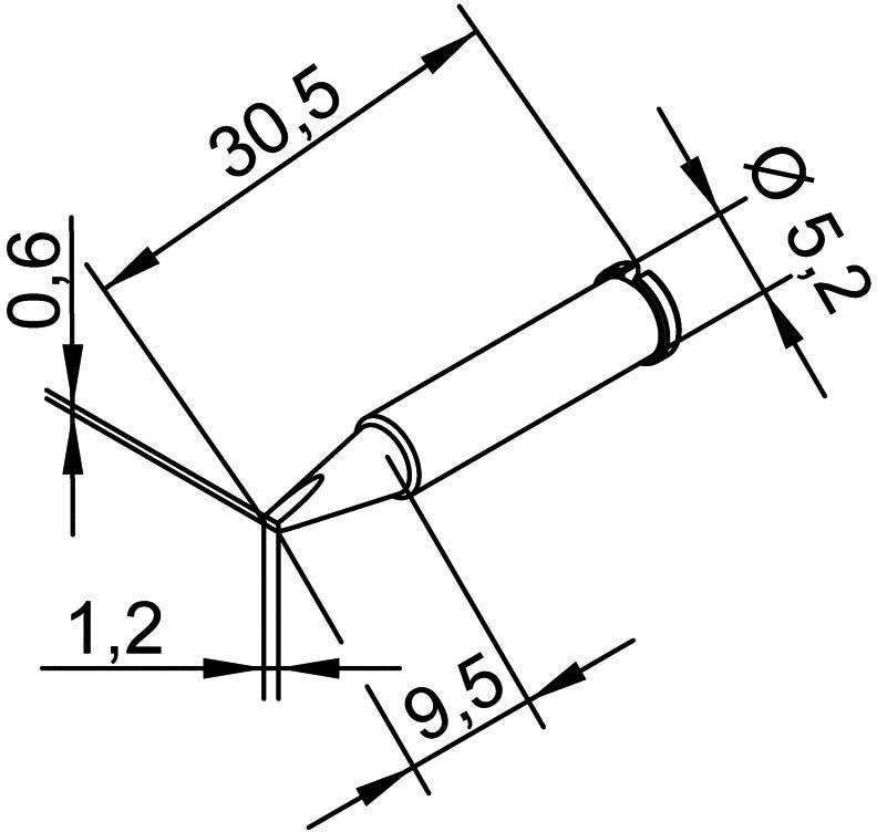 Spájkovací hrot dlátová forma, rovná Ersa 102 CD LF 12, velikost hrotu 1.2 mm, 1 ks