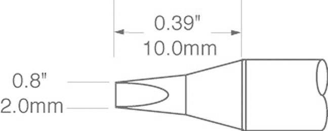 Spájkovací hrot dlátová forma OKI by Metcal SFV-CH20, velikost hrotu 2 mm, 1 ks
