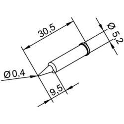 Spájkovací hrot ceruzková forma, ERSADUR Ersa 102 PD LF 04, velikost hrotu 0.4 mm, 1 ks