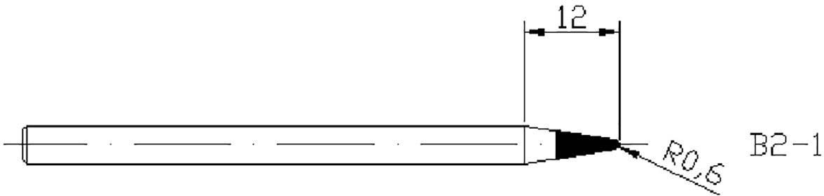 Náhradní pájecí hrot Basetech, 1 mm